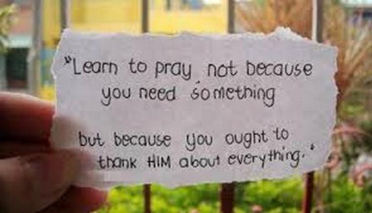 Sudahkah Kita Bersyukur Hari ini ?